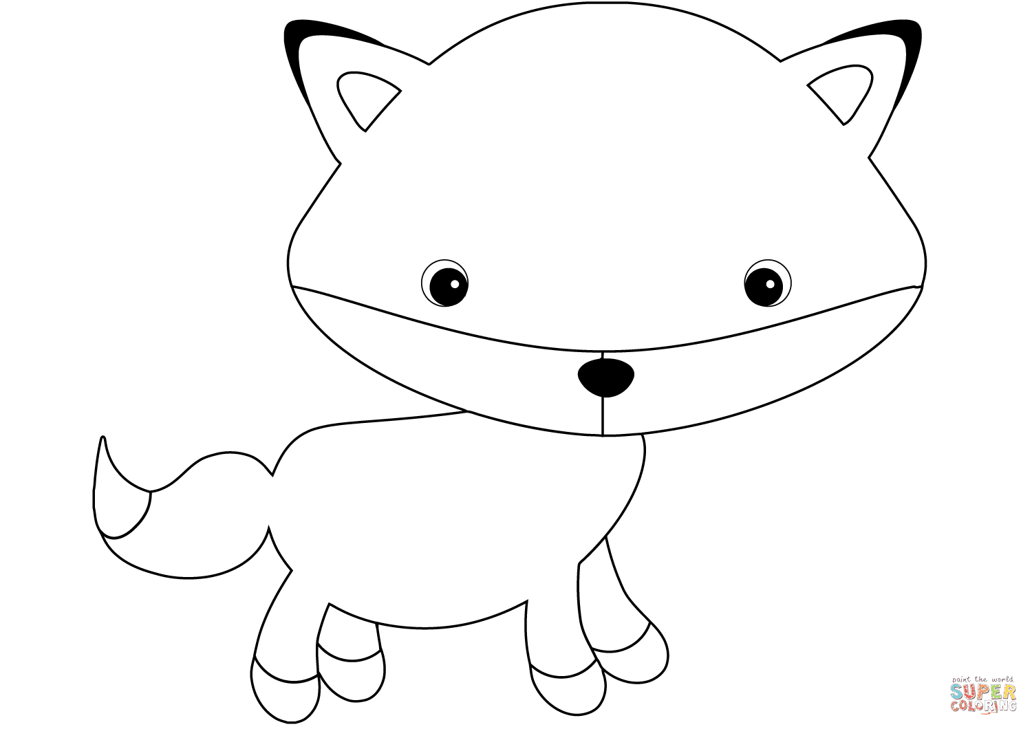 Cartoon Fox Coloring Pages Coloring And Drawing