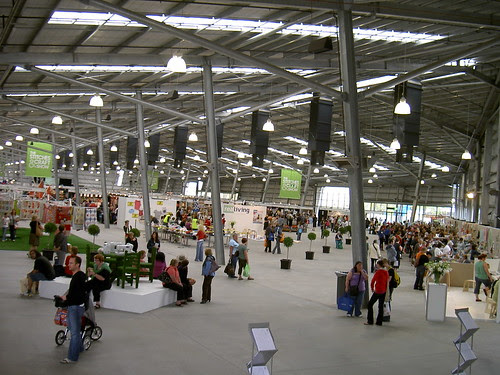 The main shed at the Stitches and Craft Show