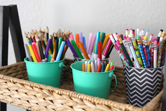 Simply Organized Children's Art Supplies - simply organized