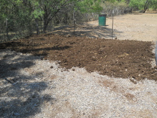 Manure on Mulched Garden Bed