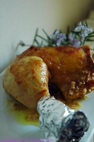 Coscia pollo senape
