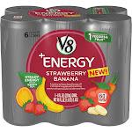 V8 +Energy Strawberry Banana Beverage - 6 pack, 8 fl oz cans