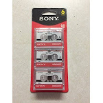 SONY mc90 Microcassette Audio Tapes 6 pack - Unlimited Cellular