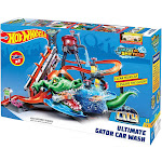 Hot Wheels City Ultimate Gator Car Wash Diecast Car Playset