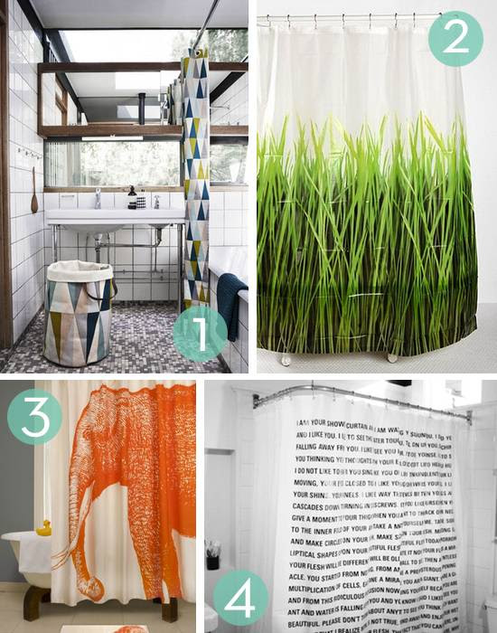Roundup: 10 Favorite Shower Curtains » Curbly | DIY Design Community