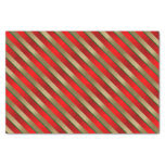 "Holiday Christmas Stripes 10"" X 15"" Tissue Paper"