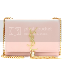 Mytheresa Yves Saint Laurent clutch rosequarz
