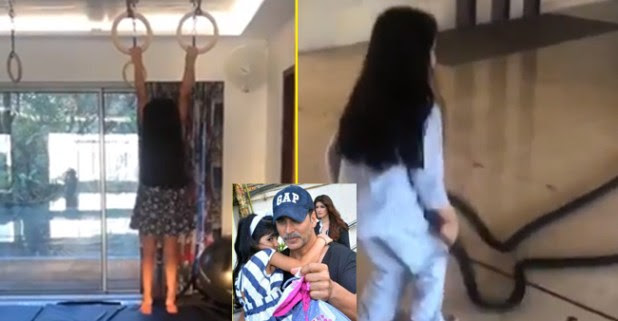 See Akshay Kumar training daughter Naitara video, he suggests everyone to start trainings