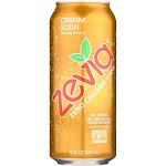 Zevia Soda - Zero Calorie - Cream Soda - Tall Girls Can - 16 Ounce -PACK 12