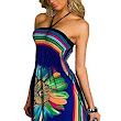 Honeystore Women's Boho Sunflower Print Summer Hawaiian Beach Casual Dress | Amazon.com