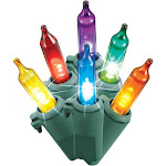 Philips 60-Count Christmas LED Smooth Mini String Lights, Multicolored Twinkle