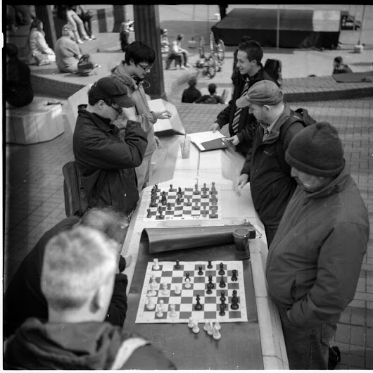 Aaron Delani's Photo Blog: Chess Players in Portland Oregon