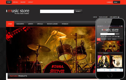 Music Store a Music Mobile Website Template by w3layouts