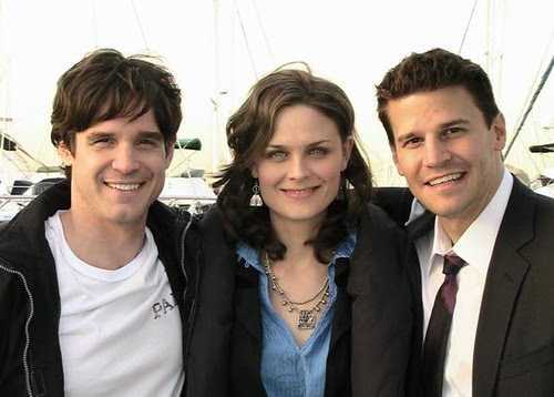 Eddie McClintock (left) with Emily Deschanel & David Boreanaz from BONES on Flickr by Bones Picture Archive © All rights reserved. [click to enlarge]