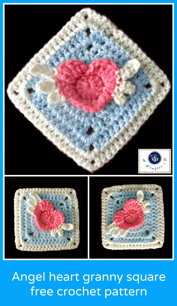 http://beacrafter.com/crochet-angel-heart-granny-square/