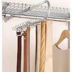 Rubbermaid Configurations Closet Tie & Belt Organizer, Titanium