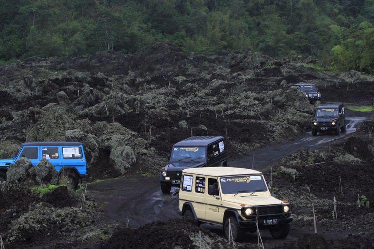 Kawasan Kaldera Gunung Batur di Kabupaten Bangli, Bali yang menj   adi salah titik wisata yang dilintasi komunitas Mercedes Jip Indonesia di Banyuwangi dan Bali pada 8-12 Desember 2017.