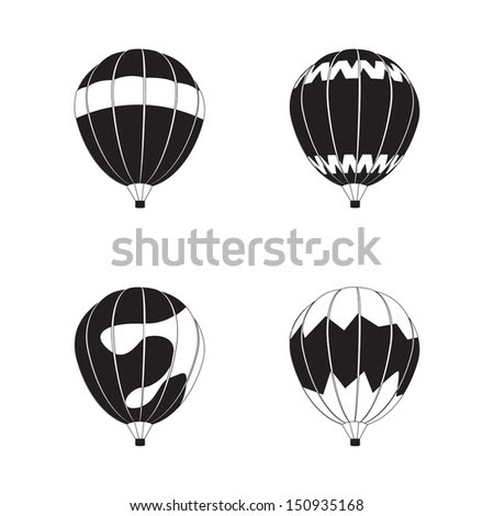 Hot Air Balloon - Isolated On White Background - Vector ...