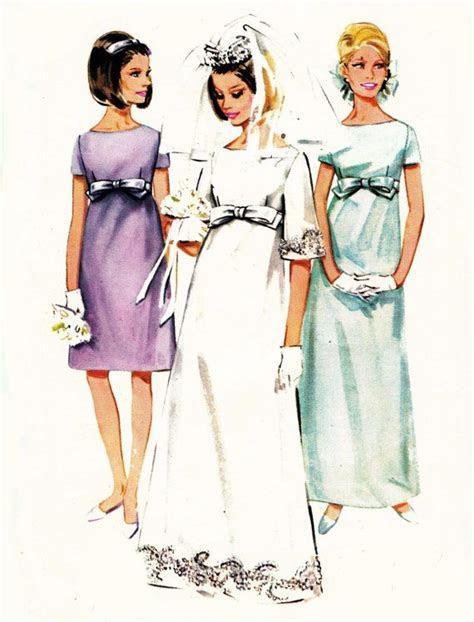 1960s Empire Line Wedding Dress pattern Butterick 4377