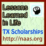 Lessons Learned in Life Scholarships for Texas students