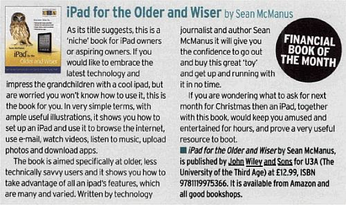 Scan of review from Choice Magazine of iPad for the Older and Wiser
