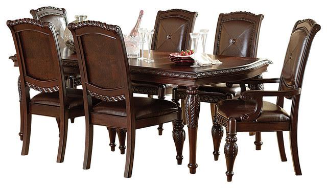 Steve Silver Antoinette 7-Piece Leg Dining Room Set in ...