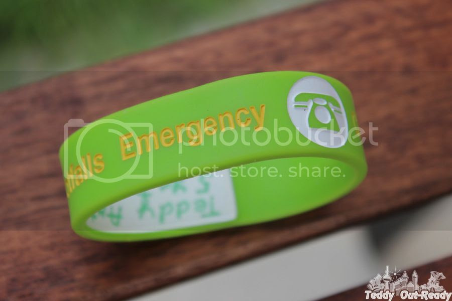 Kids Write on Travel ID Bracelet