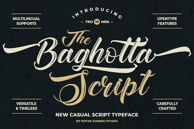 The Baghotta Casual Script Font
