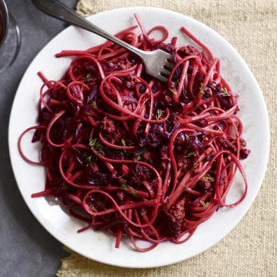 borscht and beef pasta