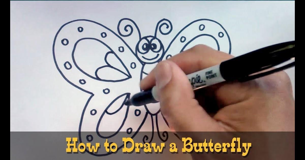 luthfiannisahay butterfly ki drawing kaise banaye