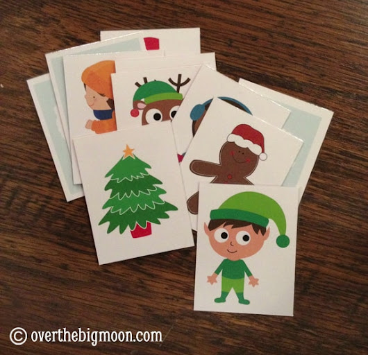 Printable Christmas Song Cards Game for Kids | Over The Big Moon