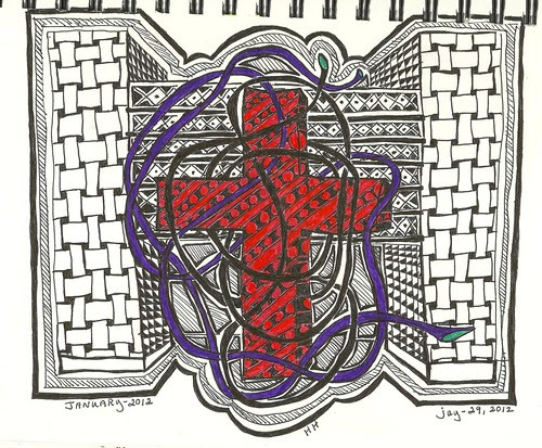 Zentangle-HH (Harris Hospital-6th floor by arts1plus