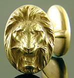 Krementz roaring lion cufflinks. (J9031)