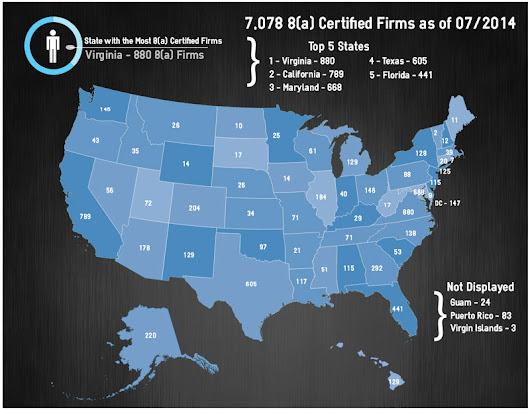 Active SBA 8(a) Certified Firms as of July 1, 2014 by Location