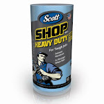 Scott 32992 Heavy Duty Shop Towel Roll, Blue, 60-count