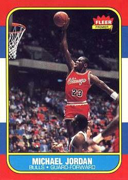 1986-87 Fleer #57 Michael Jordan Front