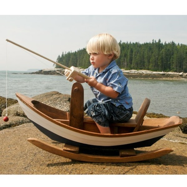 Super Cool Maine Dory Rocking Boat For Your Little Sailors