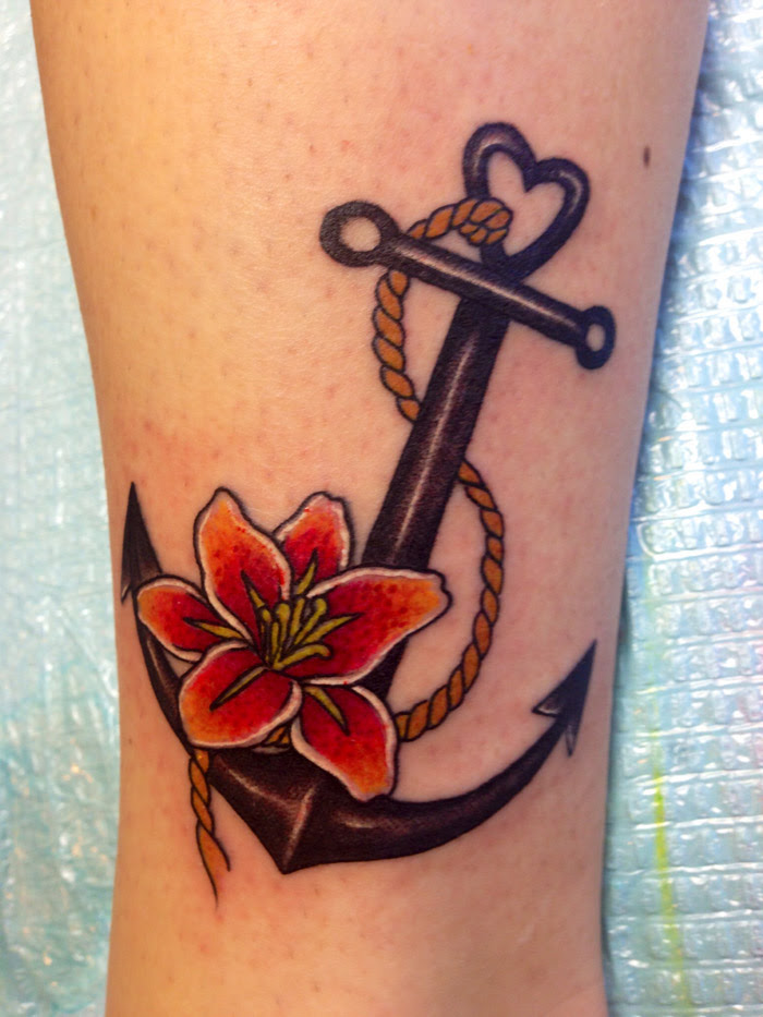 Anchor And Flower Tattoo 1000 Images About Tattoos On Pinterest
