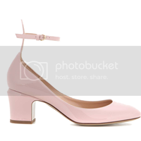 Valentino  Blockheel-Pumps Tan-Go aus Lackleder