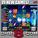 GR88 Casino Adds 19 Premium Slots and Table Games from PlaynGO including Energooz Bonuses Available