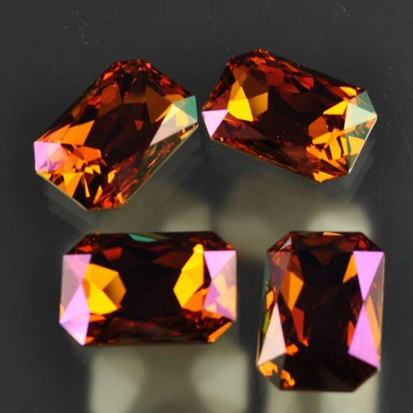 s33477 Swarovski Fancy Rhinestones - 18.5 x 27 mm Faceted Rectangle Cut (4627) - Crystal Summer Blush (1)