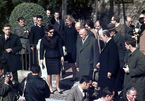 Visita del canciller alemán Konrad Adenauer a Toledo en febrero de 1967. Fotografía de John Fyfe