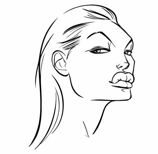 Karikatur Hitam Putih Mudah Gambar Lucu Status Wa Line