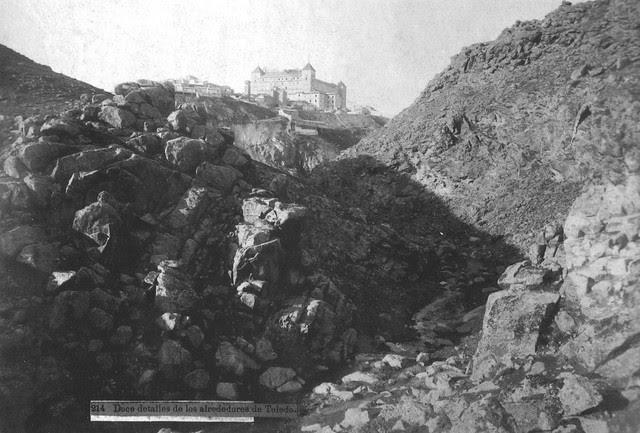 Alcázar visto desde el Arroyo de la Degollada en el siglo XIX. Foto Casiano Alguacil
