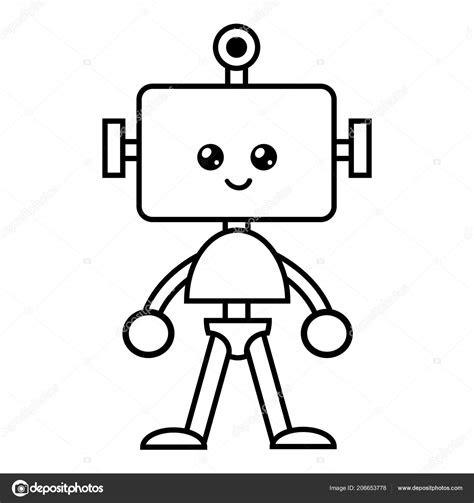 robot cocuklar icin boyama kitabi stok vektoer  ksenya