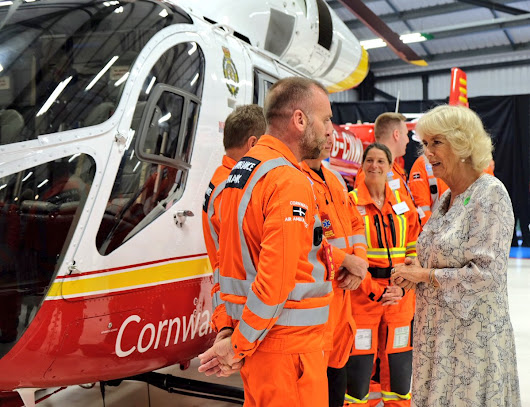Charles & Camilla in Cornwall - day 3: church service, charity representatives & air ambulance • The Crown Chronicles