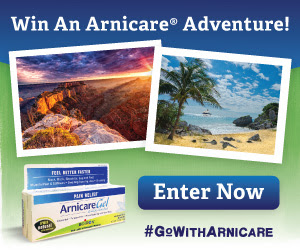 Win an Arnicare Adventure, through 7/31/14.