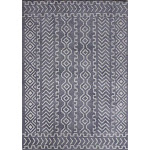 "Microfiber Extra Soft Touch Area Rug 5'4"" x 7'5"" / Gray White"