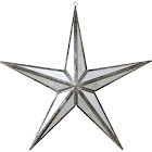 """Northlight Beauty Mirrored Five Point Star Christmas Ornament, 11"""", Silver"""