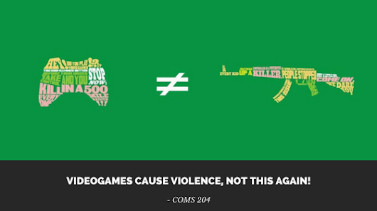 Videogames Cause Violence, Not This Again!